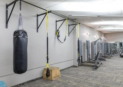 Functional training and punching bag at Workout Club in Salem