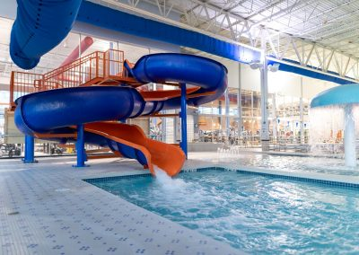 Indoor Pools and waterslide at Workout Club in Salem