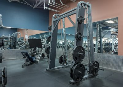 Squat Machines at Workout Club in Manchester