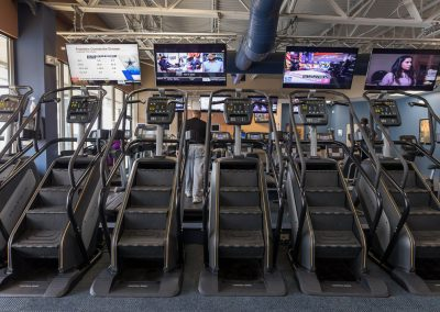 Stairmasters at Workout Club in Manchester