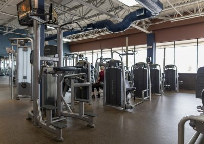 Strength training equipment at Workout Club in Manchester